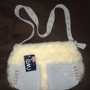 NWT EMU Australia Suede Cross Body Bag